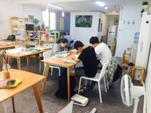 독종반 그룹 수업 시간 모습