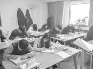 2019년 독종반 학생들의 수업 듣는 모습