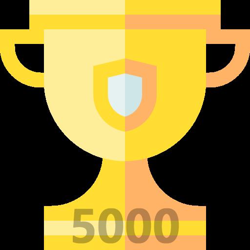 5000 Point 돌파하여 Level 7 [금트로피] 등급이 되었습니다